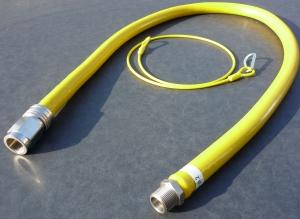 Rational gasslang Flexibele gasslang met snelkoppeling en beveiligingskabel
