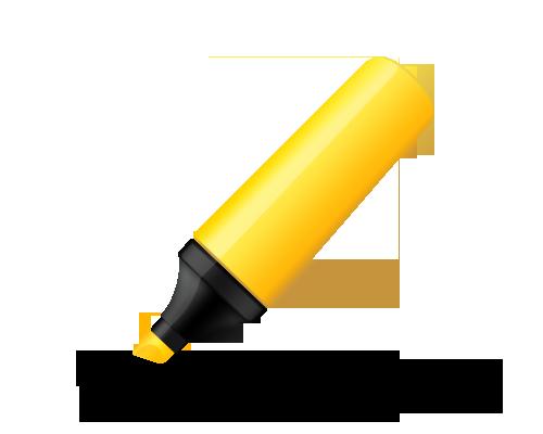 psd-yellow-highlighter-pen-icon